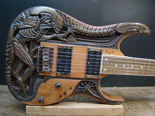 HR Giger Guitar